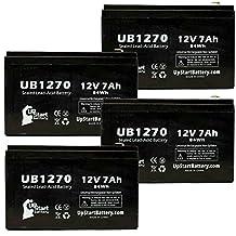 4x Pack - APC SMART-UPS XL 2200VA RM 3U SU2200RMXL3U Battery - Replacement UB1270 Universal Sealed Lead Acid Battery (12V, 7Ah, 7000mAh, F1 Terminal, AGM, SLA) - Includes 8 F1 to F2 Terminal Adapters