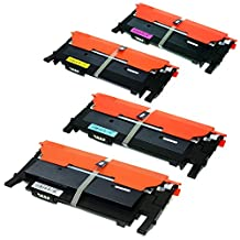Sprint Toner ® - 4 PACK Colour CLP-365, CLT406, Compatible Toner Cartridges for Samsung CLP365W CLX3305FW CLT-K406S CLT-C406S CLT-M406S CLT-Y406S , Xpress C410W, SL-C410W, SL-C460FW, SL-C460W / CLP-360, CLP-365, CLP-365W / CLX-3305FW- CANADIAN COMPANY - FREE Shipping