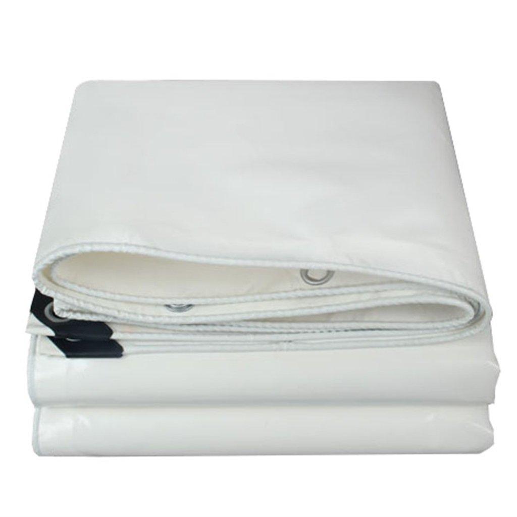 LIYFF- 100% impermeabile e UV protetto resistente tela incatramata copertura dello strato di terra copertura della barca tetto pioggia copertura tenda da campeggio (bianco) ( dimensioni   3MX5M )