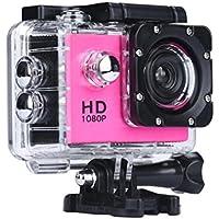 Boyiya 1080P HD Mini Waterproof Sports Recorder Car DV Action Camera Camcorder (Red)