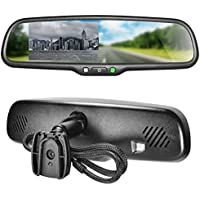 Master Tailgaters OEM Rear View Mirror with 4.3' Auto Adjusting Brightness LCD - Rearview Universal Fit
