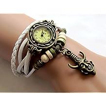 Supernatural Inspired Wrist Watch Vintage Dean's Amulet Leather Bracelet Watch