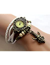 Supernatural Inspired Wrist Watch Vintage Dean's Amulet Leather Bracelet Watch