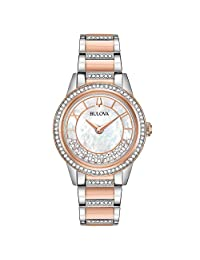 Bulova 98L246 Turnstyle Crystal Accent Two-Tone Women's Watch