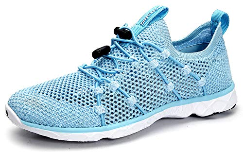 MOERDENG Women's Quick Drying Water Shoes Lightweight Aqua Shoes for Sports Outdoor Beach Pool Exercise