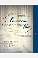 American Constitutional Law: Essays, Cases, and Comparative Notes: 2 Paperback
