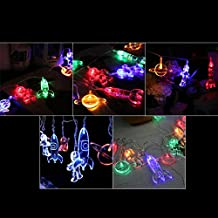 Astronaut Spaceship Rocket LED String Lights Outer Space Lamp Xmas Home Decoration