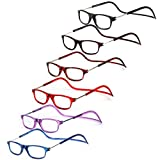 LIANSAN Folding Reading Glasses Adjustable Magnetic Eyeglasses Readers Glasses for Women Men L6000 6 pairs +1.50