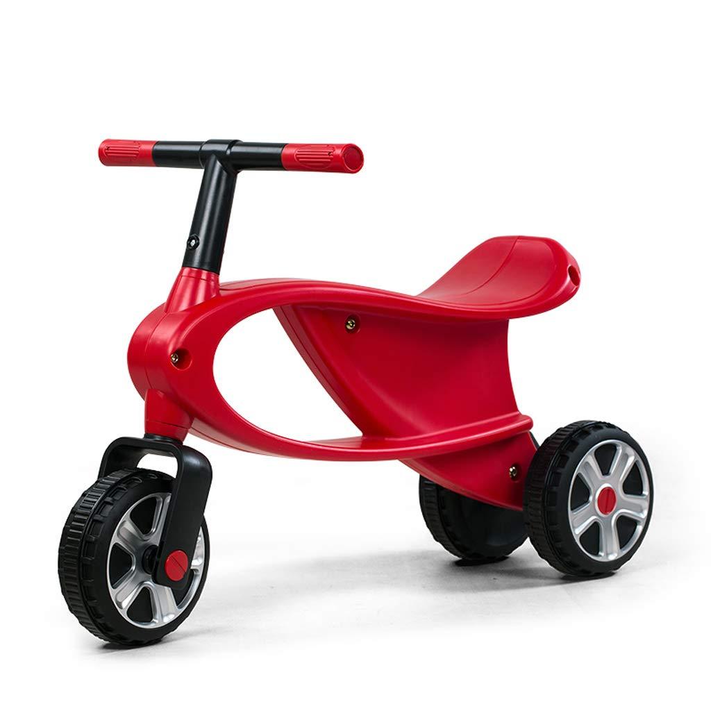 Fenfen Kinder Walker dreirädrige Schaukel Auto 2-4 Jahre alt Baby Roller Spielzeugauto rot