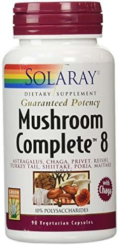 Solaray Mushroom Complete 8 Supplement, 90 Count