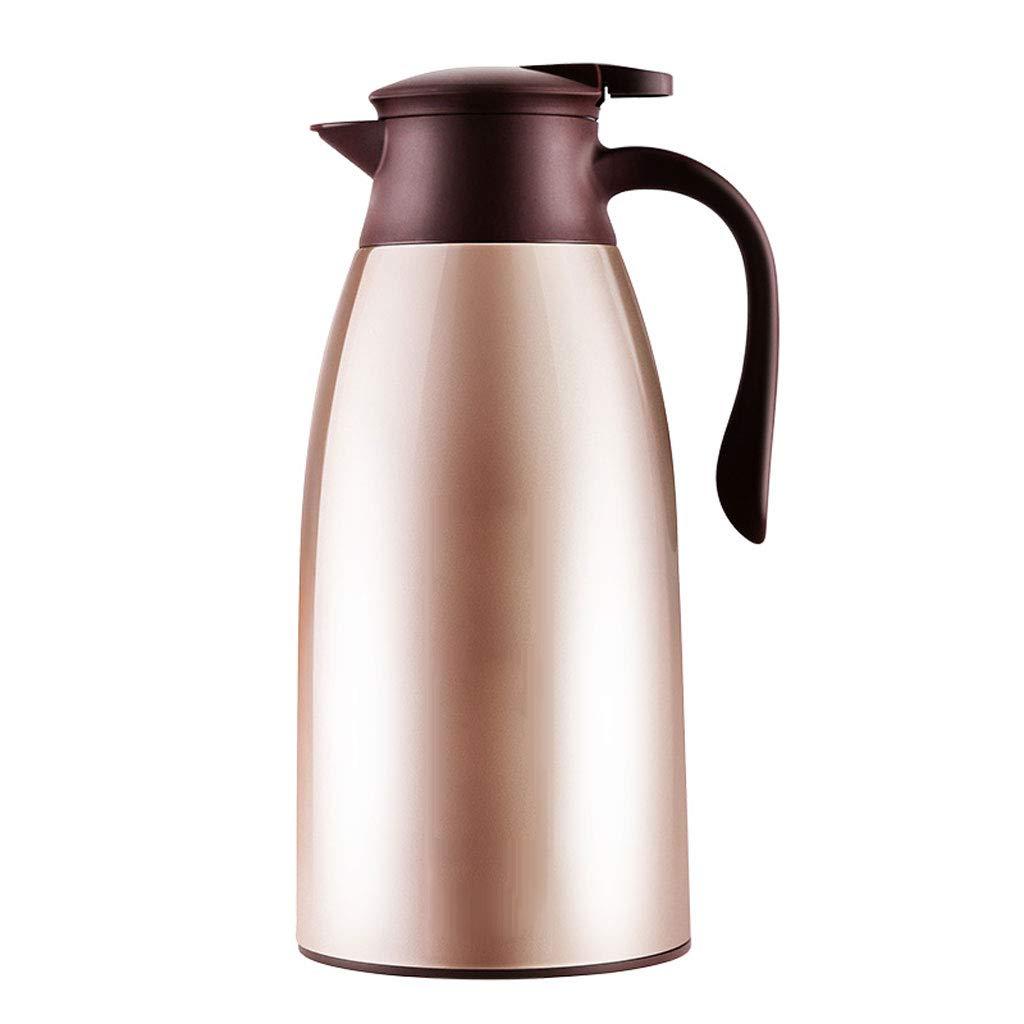 WLHW Trinkflaschen Isolierungs-Topf, 1.6L Vakuumkrug-Haushalts-große Kapazitäts-Thermos-Kaffee-Edelstahl-Saft-Milch-Tee-Kolben