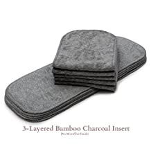 10/Pack KaWaii Baby One Size Bamboo Charcoal Inserts (NO MICROFIBER OR FLEECE)
