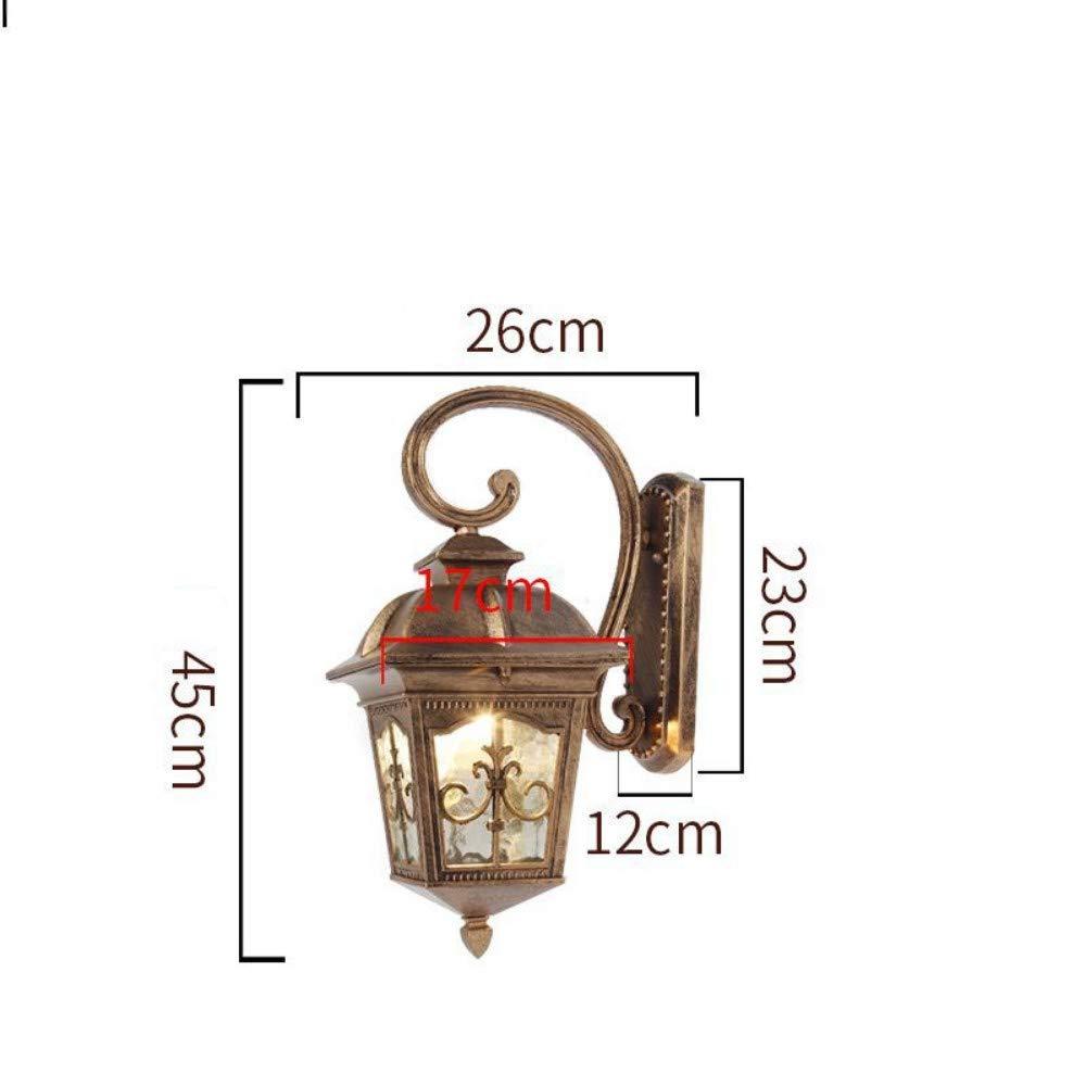Wdacczq Lampada da Parete Lampada da Parete a LED per Esterni retroilluminazione da Giardino con Vetro Impermeabile + Alluminio + Lega Decorativa da Esterno Giardino Lampada da Parete Balcone 12