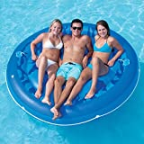 "78"" Solstice Inflatable Round Jumbo Sumo Island Swimming Pool Raft Lounger"