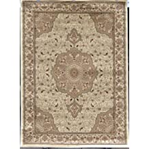 Avalon 0214 Ivory 5x7 Area Rugs Carpet Traditional Persian