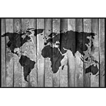 Large World Map Wall Stencil by Designer Stencils (10 mil plastic)