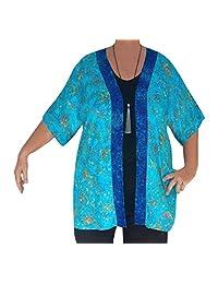 PLUS SIZE Tunic Cardigan, Women's Dolman Sleeve Jacket, Handmade, ONE SIZE 2x/3x