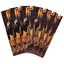 The Gift Wrap Company Bottle/Wine Gift Bags (Pack of 6), Vin Blancet Rouge, Multicolor