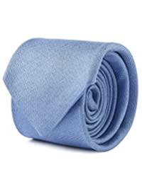 Corbata Contemporary De Seda Con Diseño Semi-Liso Azul Claro Unitalla