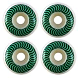 Spitfire Classics White / Green Skateboard Wheels - 52mm 99a (Set of 4)