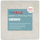 """Wool Quilter's Pressing Pad Mat - 8""""x 8"""" x 0.6"""" 100% Wool Ironing mat-Holds Heat Conveniently Size Portable Quilting for Traveling, Camping, College Top Craft, Sewing"""