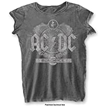 AC/DC 'Black Ice' Womens Burnout T-Shirt