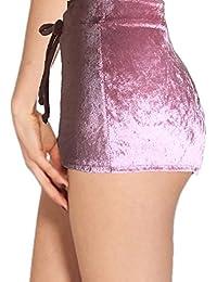 Daxin Womens Winter Velvet Soft Stretchy Shorts Clubwear...