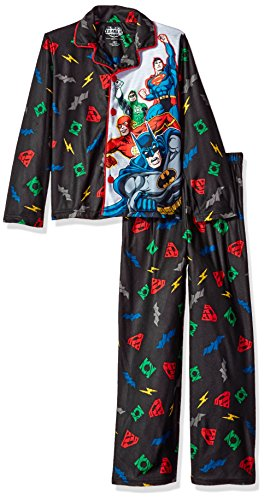 justice+league Products : Justice League Big Boys' Coat Style Pajama Set