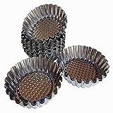 Axe Sickle 12pcs Mini Pie Pan, Round Shape Egg Tart molds, DYA Baking molds For Muffin Desserts