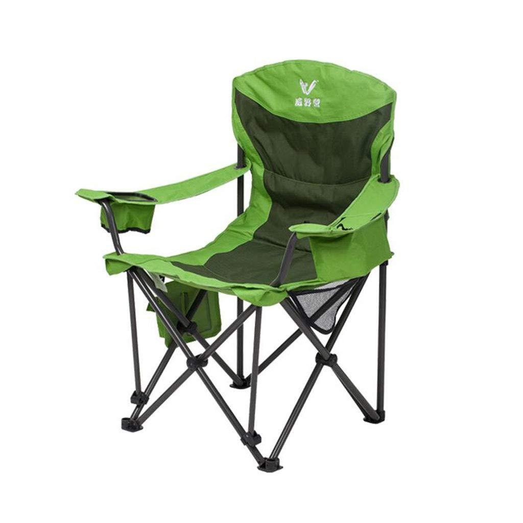 Xy Hocker Klapp Camping Stuhl Outdoor Lounge Stuhl Klappstuhl Portable Stuhl Einfach (Farbe   Grün)