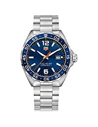 TAG Heuer Men's Formula 1 43mm Steel Bracelet & Case Quartz Blue Dial Analog Watch WAZ1010.BA0842