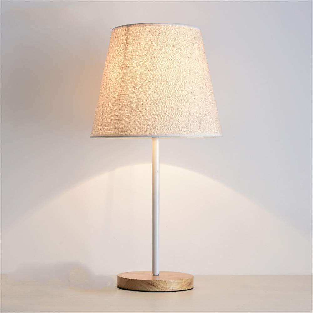 Eeayyygch Nacht- und Tischlampen Moderne Minimalistische Nachttischlampe Schlafzimmer Warme Dekoration Tischlampe Massivholz Log Kreative Tischlampe (Farbe   -, Größe   -)