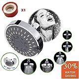 Ducha de lluvia de alta presión de alto flujo de ahorro de agua cabezal de ducha de gran alcance 5 Ajustes extraíble montado en la pared con filtro para Baño Hotel SPA