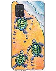 Oihxse Funda para Samsung Galaxy A6S Transparente, Estuche con Samsung Galaxy A6S Ultra-Delgado Silicona TPU Suave Protectora Carcasa Océano Animal Serie Bumper (C4)