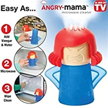 Microwave Cleaner,Angry Mama Microwave Oven Steam Cleaner Microwave Cleaning Tool Disinfect With Vinegar And Water,Blue Body and Red Hair.