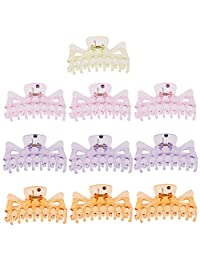MonkeyJack 10 Pieces 95mm Women Lady Girl Large Hair Resin Claws Clamps Clips Hair Grips