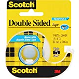 3M 238 Double-Sided Tape, Removable, 3/4-Inch