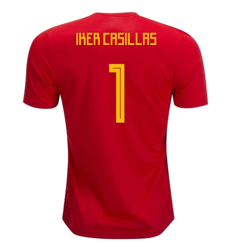 2018-19 Spain Home Football Soccer T-Shirt Trikot (Iker Casillas 1) - Kids