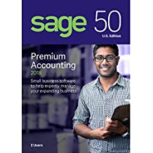 Sage Software Sage 50 Premium Accounting 2018 U.S. 2-User (2-Users)