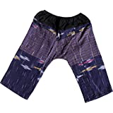 RaanPahMuang Textured Thick Chomtong Cotton Childrens Baggy Elastic Waist Pants