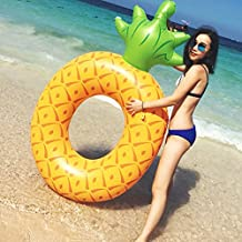 Adults Pineapple Inflatable Float Swimming Aids Pool Fruit Swim Ring Floaties Boat Summer Beach Lounger Toys Outdoor 71inch