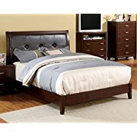 247SHOPATHOME Idf-7068-Q Platform-Beds, Queen, Cherry