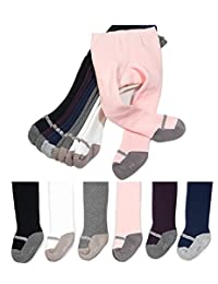 CHUNG Baby Toddler Girls Cotton Footed Tights Thick Terry Lined Winter Pants 6M-4Y