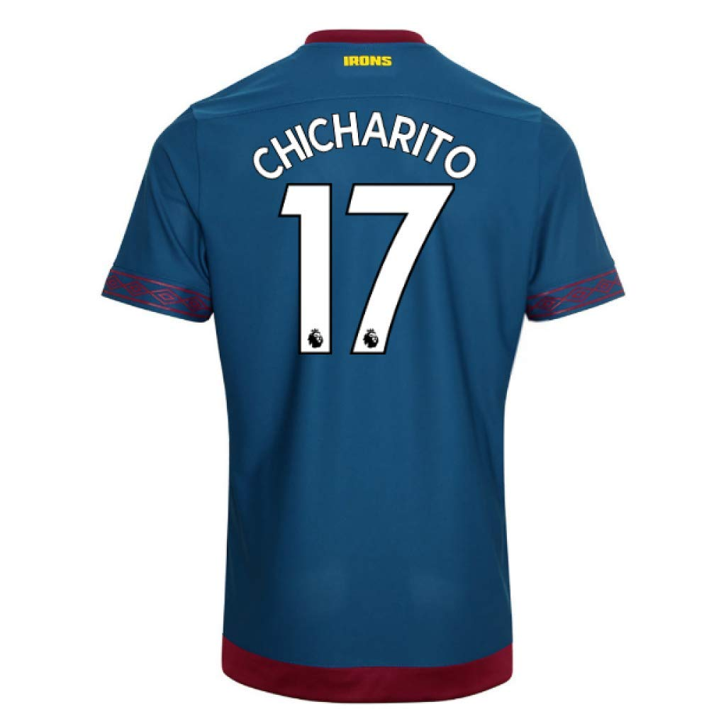 2018-2019 West Ham Away Football Soccer T-Shirt Trikot (Javier Hernandez 17)