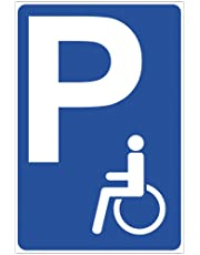 'Panneau PARKING handicapés en aluminium/Dibond 200x 300mm–3mm d'épaisseur