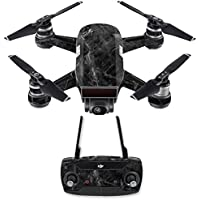 Skin for DJI Spark Mini Drone Combo - Black Marble| MightySkins Protective, Durable, and Unique Vinyl Decal wrap cover | Easy To Apply, Remove, and Change Styles | Made in the USA