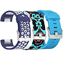 For Fitbit Charge 2 Bands, SKYLET Soft Universe Replacement Bands for Fitbit Charge 2 Silicone Bracelet (No Tracker)