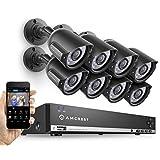 Amcrest AMDV960H8-8B 8CH 1TB DVR Security Camera System w/ 8 x 800+ TVL Bullet Cameras (Black)