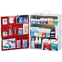 Medique 3-Shelf Industrial Side-Opening First Aid Cabinet, Filled #745M1