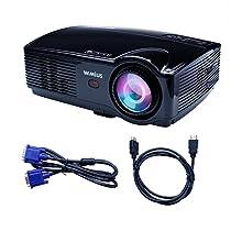 WIMIUS LEDプロジェクター HD 1280*800 3200ルーメン 1080Pサ...